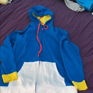 Disney men's zip up Donald Duck hoodie